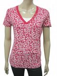 Wholesale Womens Ex Chainstore T-Shirt Top Layered Red - White Print